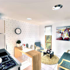 MA Edificio Residencial: Comedores de estilo  por NidoSur Arquitectos