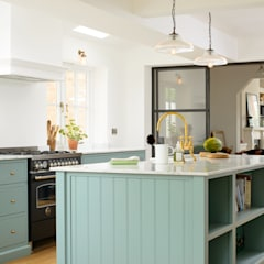 The Trinity Blue Kitchen by deVOL Scandinavian style kitchen by deVOL Kitchens Scandinavian