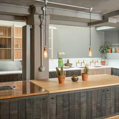 The London Basement Kitchen by deVOL : industrial Kitchen by deVOL Kitchens