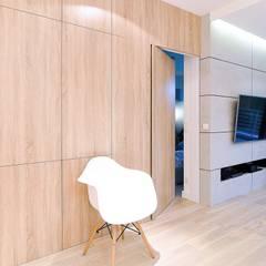 Apartament w Pogorzelicy: styl , w kategorii Salon zaprojektowany przez AS Design Wnętrza