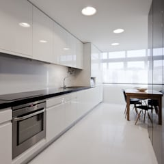 Apartamento JSJ - Ajuda, Lisboa Cozinhas minimalistas por FMO ARCHITECTURE Minimalista