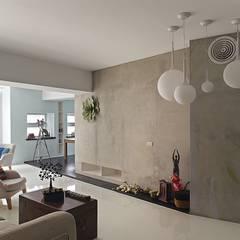 غرفة المعيشة تنفيذ 禾光室內裝修設計 ─ Her Guang Design