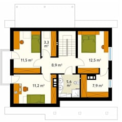 Projekt domu Aloes: styl , w kategorii Ściany zaprojektowany przez Biuro Projektów MTM Styl - domywstylu.pl,