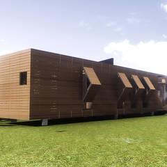 VIVIENDA ABATIBLE SUSTENTABLE: Casas de estilo  por Arquitectura AG