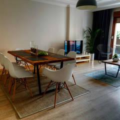 Mandalin Dizayn – Nişantaşı Kıvanç Sokak 2+1 Daire Projesi: minimal tarz tarz Oturma Odası