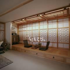 Projekty,  Salon zaprojektowane przez 한옥공간