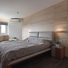 十畝之間:  臥室 by 禾光室內裝修設計 ─ Her Guang Design