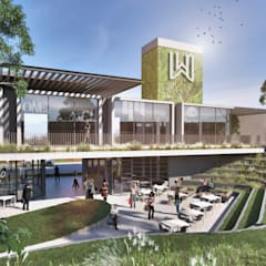 The Wedge:  Shopping Centres by bloc architects, Modern