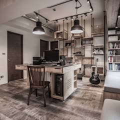 ห้องทำงาน/อ่านหนังสือ by 丰墨設計 | Formo design studio