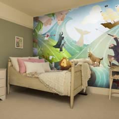 Waves of Imagination Wall Mural Dormitorios infantiles de estilo moderno de Wallsauce.com Moderno