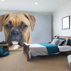 Boxer Dog Wallpaper Dormitorios infantiles de estilo moderno de Wallsauce.com Moderno