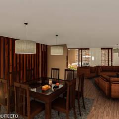 CASA JONES - PROYECTO: Comedores de estilo  por FRANCO CACERES / Arquitectos & Asociados
