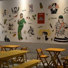 Diseño paredes: Gastronomía de estilo  por Isabel Amiano Arquitectura