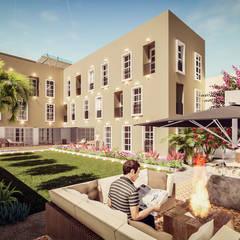 HOTEL BOUTIQUE BARRANCO - LIMA: Casas de estilo  por FRANCO CACERES / Arquitectos & Asociados