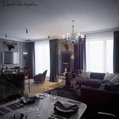 50 оттенков серого: Гостиная в . Автор – eugene-design.com,