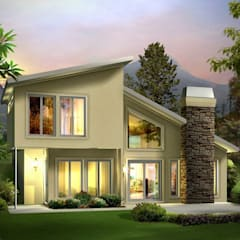 The modern green house: modern Houses by Ndiweni Architecture