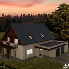 IMU0002: styl rustykalne, w kategorii Domy zaprojektowany przez PROMO Pracownia Projektowa