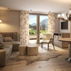 GroBartig Hotel Arlberg Jagdhaus: Landhausstil Wohnzimmer Von Go Interiors GmbH