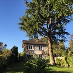 façade coté jardin, avant: Maisons de style  par Eric Rechsteiner