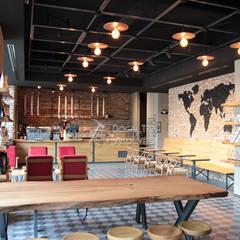 Doğaltaş Atölyesi – tuğla Kaplama-espresso lab:  tarz Duvarlar
