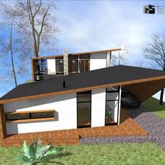 CASA CINTA : Casas de estilo  por GerSS Arquitectos