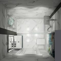"Душевая комната ""for dad"":  Bathroom by СТУДИЯ   'ДА' ДАРЬИ АРХИПОВОЙ"