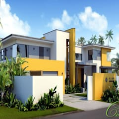 Проект жилого дома в штате Гавайи (США), о. Оаху г. Гонолулу: Дома в . Автор – Компания архитекторов Латышевых 'Мечты сбываются'