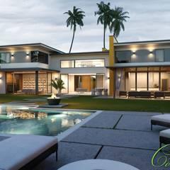 Casas de estilo  por Компания архитекторов Латышевых 'Мечты сбываются',