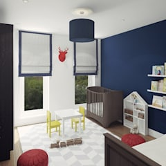 Apartment in Otrada estate:  Nursery/kid's room by Ksenia Konovalova Design