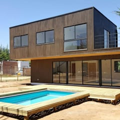 Houses by Lares Arquitectura, Mediterranean لکڑی Wood effect