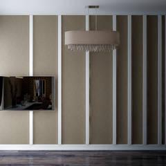 Дизайн кабинета (гардеробной) в доме по ул. Первомайская, г.Краснодар: Рабочие кабинеты в . Автор – Студия интерьерного дизайна happy.design