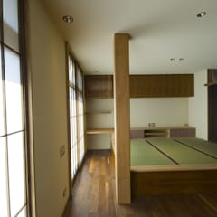 古建具を再利用したリノベーション/想蔵: 森村厚建築設計事務所が手掛けた書斎です。