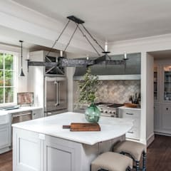 Spanish Colonial Interiors:  Kitchen by Christopher Architecture & Interiors