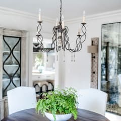 Spanish Colonial Interiors: colonial Dining room by Christopher Architecture & Interiors