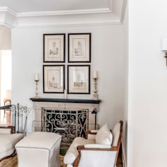Spanish Colonial Interiors: colonial Living room by Christopher Architecture & Interiors