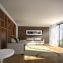 CASA NS: Livings de estilo  por EjeSuR Arquitectura