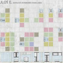 Unidades Mínimas Habitables: Baños de estilo  por gOO Arquitectos