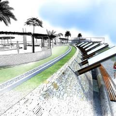 : Piscinas de estilo  por Paz Ingenieros & Arquitectos, Moderno