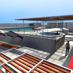 : Piscinas de estilo  por Paz Ingenieros & Arquitectos