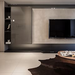 Salas / recibidores de estilo  por 你你空間設計, Moderno