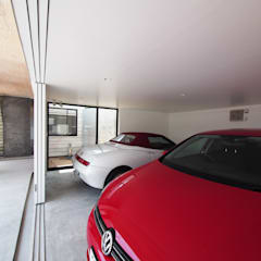Double Garage by イシウエヨシヒロ建築設計事務所 YIA