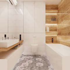 Baños de estilo  por Ale design Grzegorz Grzywacz, Escandinavo