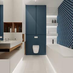 Projekt mieszkania 76m2 w Będzinie - Namiarkowa : styl , w kategorii Łazienka zaprojektowany przez Ale design Grzegorz Grzywacz