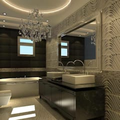 Baños de estilo  por القصر للدهانات والديكور
