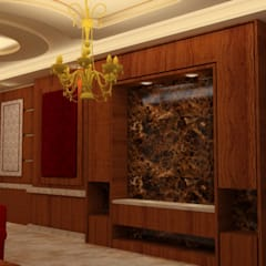 غرفة المعيشة :  الممر والمدخل تنفيذ القصر للدهانات والديكور