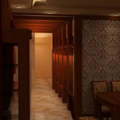 طرقة :  الممر والمدخل تنفيذ القصر للدهانات والديكور