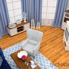 PROJEKTY: styl , w kategorii Salon zaprojektowany przez Design & Home Staging Dagmara Wołoszyn