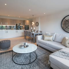 Station Rd, New Barnet:  Living room by Jigsaw Interior Architecture