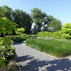 Moderne tuin in het groen:  Tuin door Stoop Tuinen