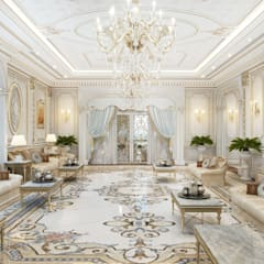 Luxury living room of Katrina Antonovich: classic Living room by Luxury Antonovich Design